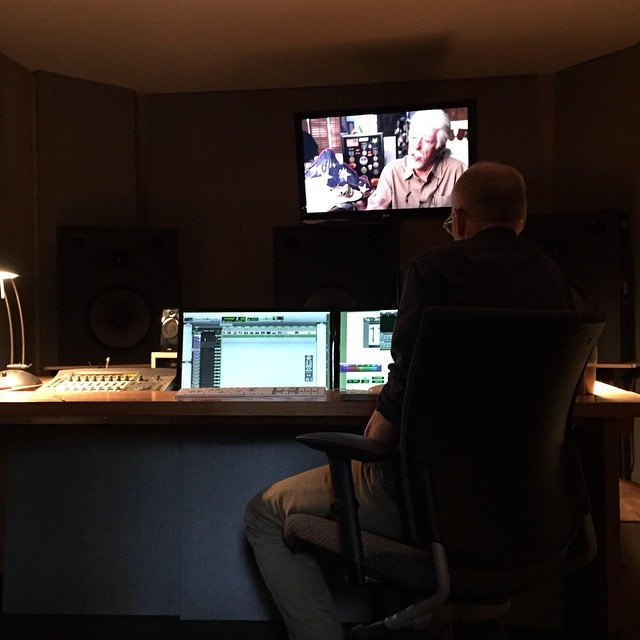 Tom Hammond mixing PEACE OFFICER at Soundcrafter
