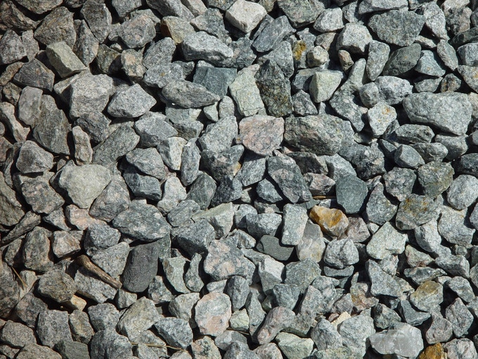 Entry Level Dry Gravel (may include sticks and leaves)