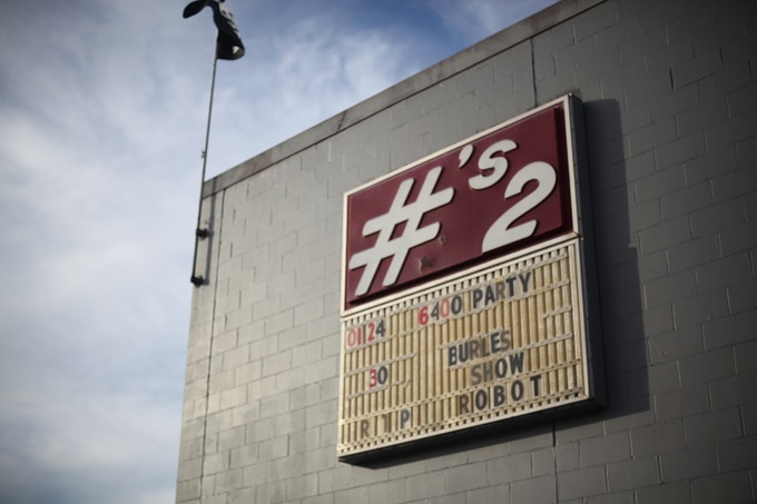 Front of Numbers showing the billboard put up in the early 1980s
