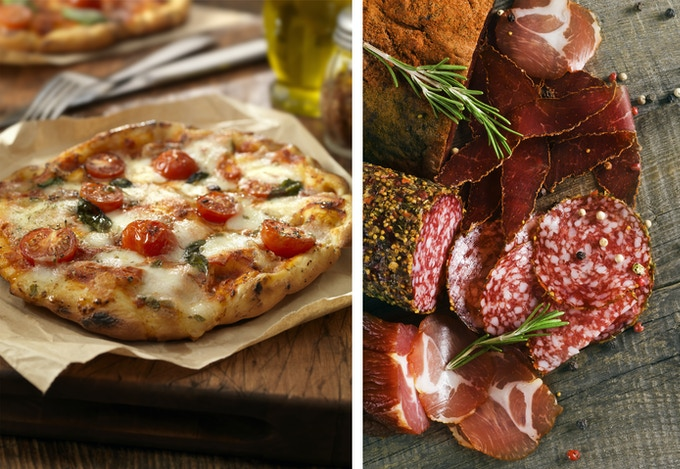 Our pizzas and charcuterie are going to make you smile