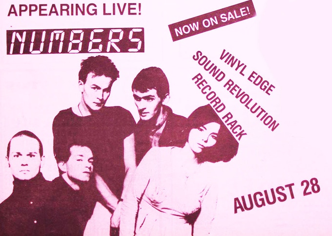 Sugarcubes flyer for Numbers, 1988