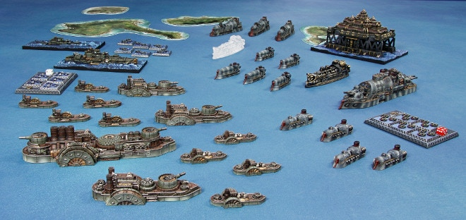 Set in the waters around South America, the Operation Shadow Hunter Two Player Battle Box pits two bitter enemies against each other: the Empire of the Blazing Sun and the Federated States of America.