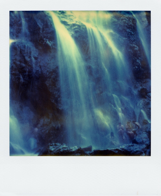 Polaroid shot one year after expiry