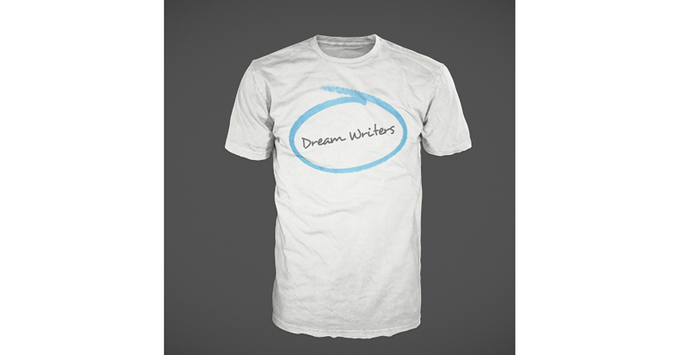 Serve as a walking billboard with this Dream Writers logo tee!