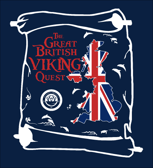 Great British Viking Quest expedition branding, designed by 8th grader Natalie from Ontario, Canada as part of an international competition for schools.