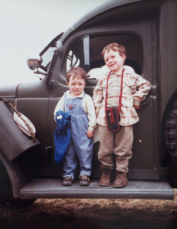 Me (right) and my brother James. Such cutie's...