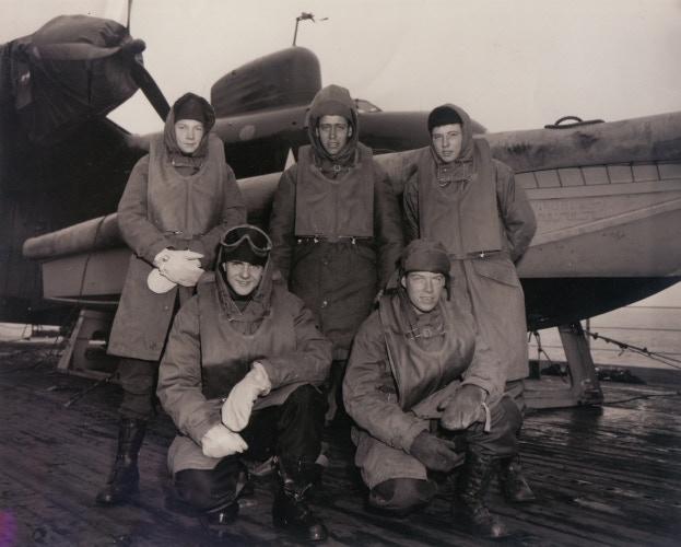 Crash boat crew, Seaplane Tender USS Pine Island, Operation Highjump, 1947 (U.S. Navy)