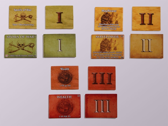Larger, and thicker tokens are now included (in this case Capital Buildings, but true for Trade Goods and Discovery Tiles as well)