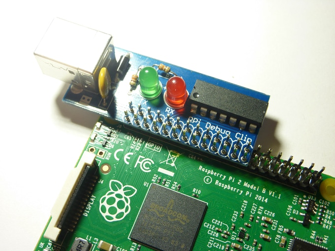 Updated prototype being tested on a Pi 2