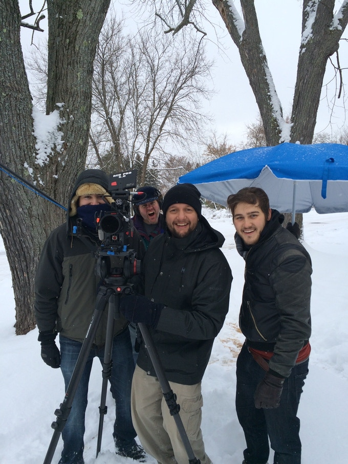 Just shooting a movie during a polar vortex.