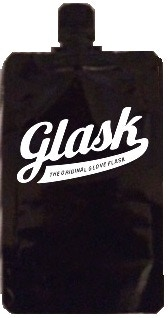 Disposable Flask with Original Glask logo