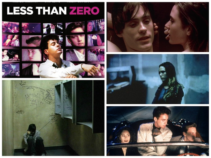 Think Requiem for a Dream, Less Than Zero, Trainspotting