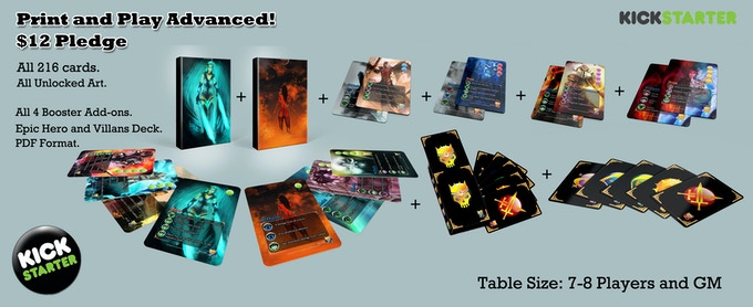 Print and play Advanced - The 216 Card complete double sided set with unlocked art. Mailed to you in a pdf as soon as the cards are done.