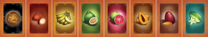 Fruit and Coin Cards