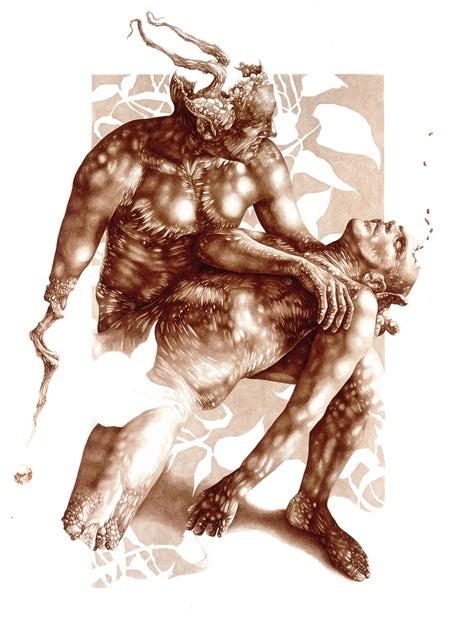 """The Sleep"", 2006, 83"" x 55"" / Collection: Martin Stricker"