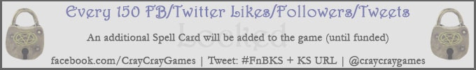 Support our Kickstarter by Tweeting the URL and #FnBKS !!