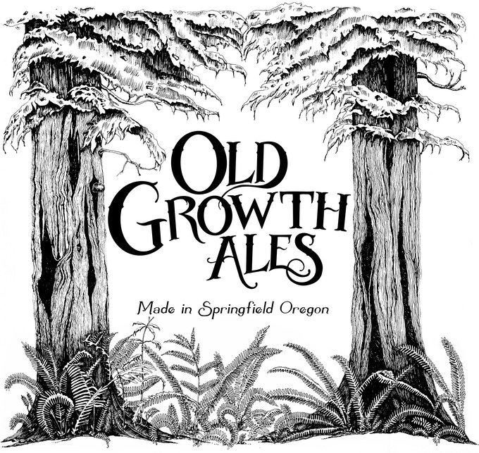 Old Growth Ales Label and Wood Print Backing Gift