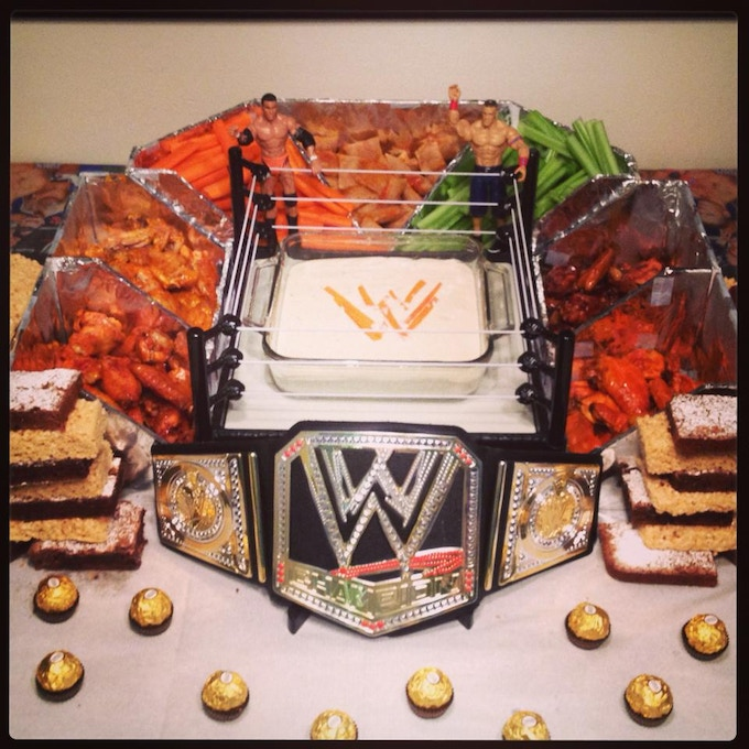 WWE's WrestleMania means SnackMania (with wings)!