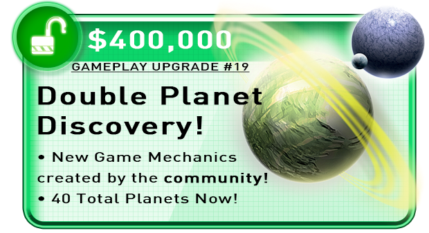 Upgrades the Base Game. Includes 2 separate Planet Cards. Click to visit the BGG poll and cast your vote for a planet ability.