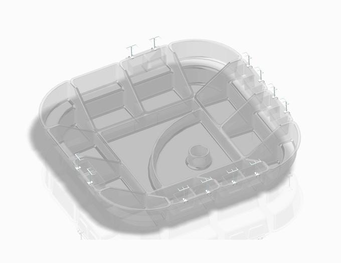 13-piece w/baseball field center pan