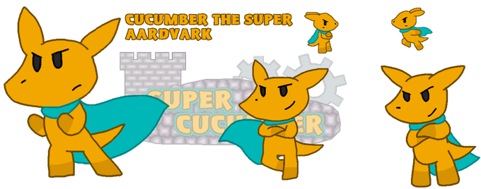 Cucumber, the hero of our story, and the finest Aardvark super hero in all of video games.