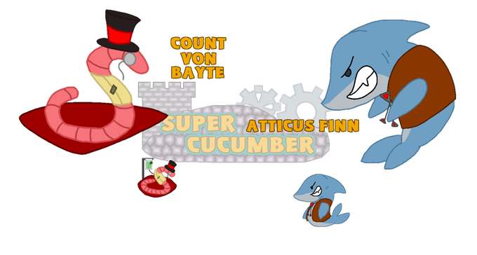 Count Von Bayte and Attcus Finn, two of Cucumber's dastardly adversaries.
