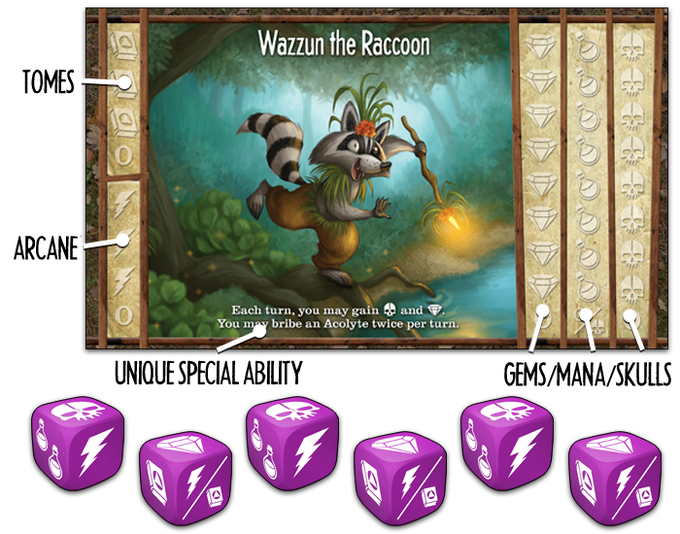 Sorcery dice can be rerolled twice - but collecting skull magic can be dangerous! Wizards of the Wild challenges your ability to use dice efficiently and cleverly – it's not a luckfest.