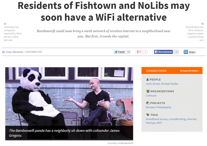 """Residents of Fishtown and NoLibs may soon have a WiFi alternative"""