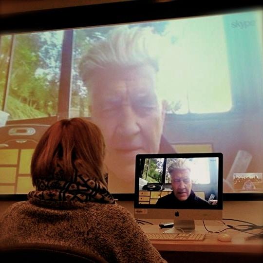 Agnes talking to David Lynch