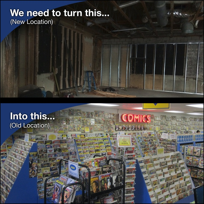 It will be a HUGE endeavor moving one million comics and constructing a new comic book store.
