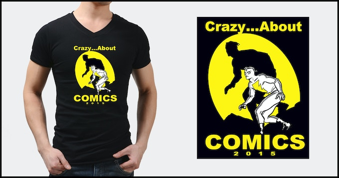 """Specially Designed, Limited-Edition Mike Allred """"Crazy About Comics"""" T-shirt, Exclusively Designed for this Kickstarter Campaign"""