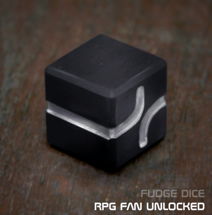 AKO DICE - UNLOCKED RPG Fan, Grey anodized aluminum Fudge Dice.