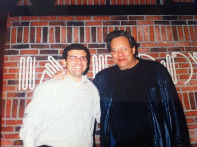 Larry with Lewis Black
