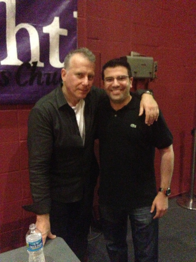 Larry working with Paul Reiser