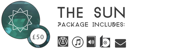 ▲ THE SUN £50: The ultimate Three Monkeys bundle. At this tier you'll receive your key for the game, ANOTHER key for a friend, the digital OST, the audiobook prequel AND a Limited Edition physical soundtrack with bonus tracks and commentary.