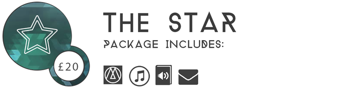 ▲ THE STAR £20:  Get the game, the digital OST AND the audiobook prequel to Three Monkeys: Lavinia's Legacy.