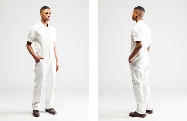 JUMPSUIT in white with a short sleeve