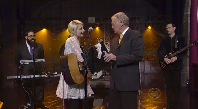 On the Late Show with David Letterman