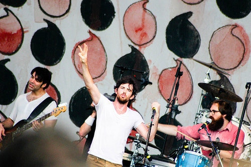 Playing drums with The Avett Bros. at Bonnaroo
