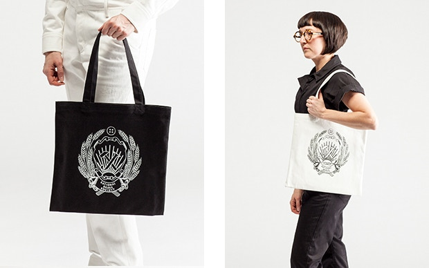 RDS official tote bag in black and white