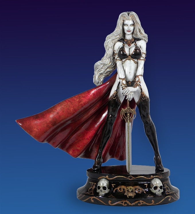 Lady Death: White Faux Bronze Statue (#16 of 200 made!)