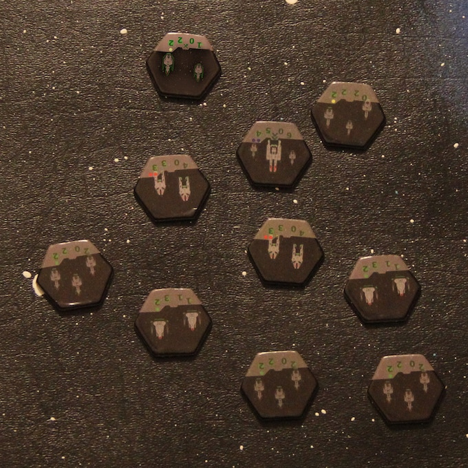 The Surakari Units from Fleet Commander.  Pleae note that the unit in the upper left is a digital render.