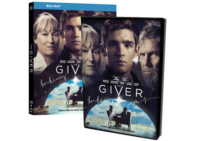 "For $205: DVD of ""The Giver"" movie based on the beloved book by Lois Lowry. Autographed by Lowry, star Jeff Bridges, and screenwriter Weide. (Blu-Ray: $215)"