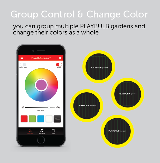 Group multiple PLAYBULB garden together!