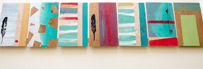 HAND PAINTED WOODEN POSTCARDS - $10 CAD ($8 USD) REWARD LEVEL
