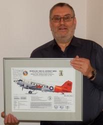 Ron with Prototype of Que Sera Sera Print