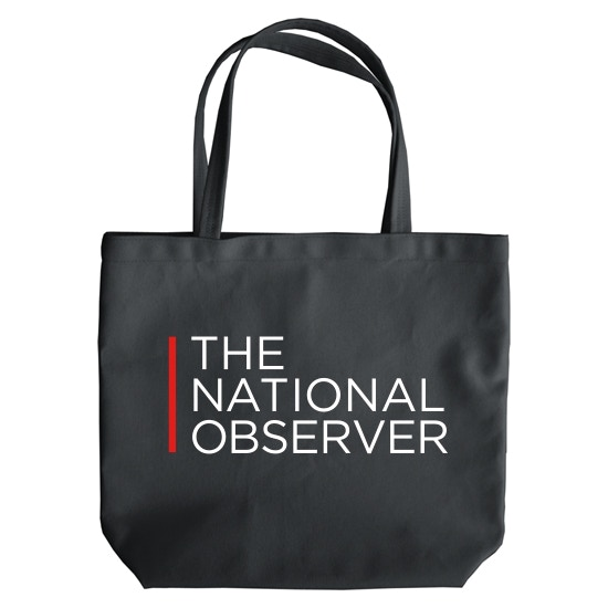 Be part of an exciting roll out with The National Observer tote.  Take the good news with you!