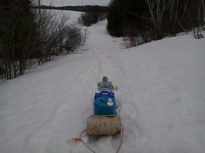 At a few toboggan trips a day, we'll be using a snowmobile this season!