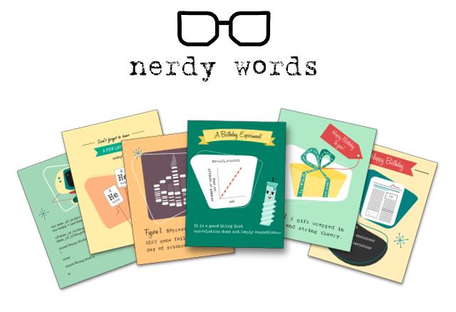Nerdy Words Birthday Cards for Science Geeks by Christine Snyder – Nerdy Birthday Card