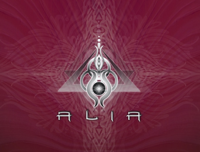 ALIA logo for limited edition tank tops and stickers